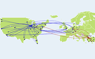 Create flight airline map